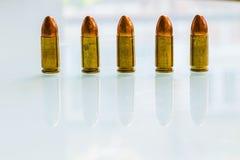 9 millimètres. balles Photos libres de droits