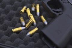 9 millimètres de munitions Image libre de droits