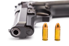 9 millimètres. pistolet Image libre de droits