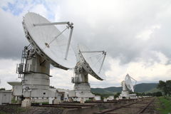Millimeter array of Nobeyama radio observatory. In Japan stock photography