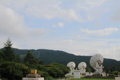 Millimeter array of Nobeyama radio observatory. In Japan royalty free stock photos