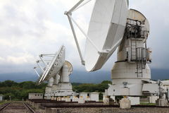 Millimeter array of Nobeyama radio observatory. In Japan stock photos