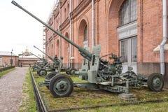 57-Millimeter automatische Fliegerabwehrkanone S-60 Stockfotografie