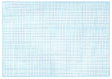 Millimeter blue graph paper Royalty Free Stock Photography
