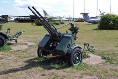23 Millimeter die verbundene Flugabwehr-Stellung Das technische Museum von K g Sakharov unter dem Offenen Himmel in der Stadt von Lizenzfreies Stockfoto