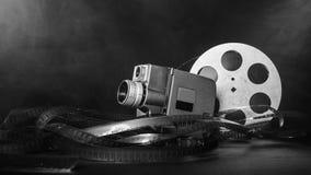 8 Millimeter-Filmkamera mit einer Spule des Filmes im Rauche Rebecca 6 Lizenzfreies Stockfoto