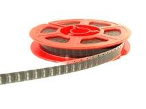 8 Millimeter-Filmspule/lokalisiertes Weiß Lizenzfreie Stockfotos
