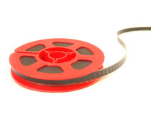 8 Millimeter-Filmspule/lokalisiertes Weiß Stockfotos