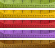 Millimeter Inch Ruler Set. Millimeter and inch ruler set isolated on a white background Stock Photo