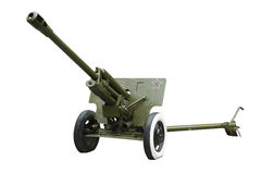 76 - Millimeter-Kanone u. x28; ZIS- 3& x29; Sowjetische Armee Lizenzfreie Stockfotos