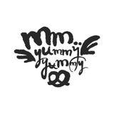 Millimeter leckerer leckerer Kalligraphie-Beschriftungs- Stockfoto