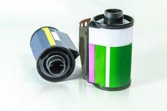 35 Millimeter-negativ Film - Rolle des Kamerafilmes Stockfotos
