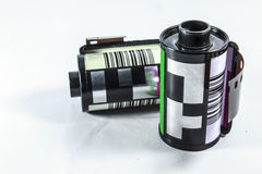 35 Millimeter-negativ Film - Rolle des Kamerafilmes Lizenzfreie Stockbilder
