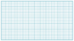 Millimeter Paper Vector. Blue. Graphing Paper For Education, Drawing Projects. Classic Graph Grid Paper Measure.  vector illustration