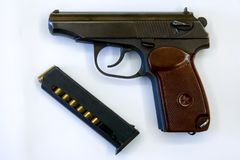 9-Millimeter selbstladende Pistole Makarow P.M. stockfotos