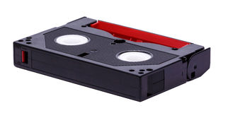 8 millimeter video tape on white background. An eight millimeter video tape on white background royalty free stock images