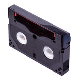 8-Millimeter-Videoband auf weißem Hintergrund Stockfotografie