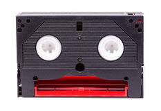 8-Millimeter-Videoband auf weißem Hintergrund Lizenzfreies Stockfoto