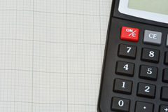 Millimeterpapier en calculator Royalty-vrije Stock Foto