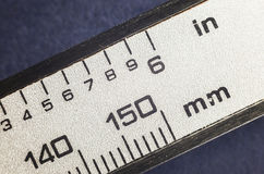 Millimeters and Inches Stock Photo