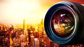 50 millimetrar för kameralins professionell Royaltyfri Bild