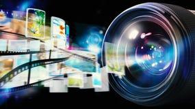 50 millimetrar för kameralins professionell Royaltyfri Foto