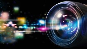 50 millimetrar för kameralins professionell Royaltyfri Fotografi