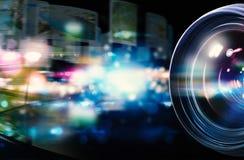 50 millimetrar för kameralins professionell Arkivbilder