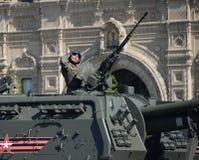 152 millimetri automotori pesanti russi dell'obice 2S19 del ` di ` di Msta-S Immagine Stock Libera da Diritti