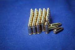 9 millimetri di munizioni immagine stock