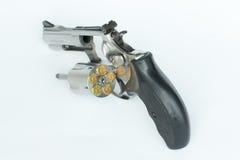 .38 millimetri. isolato della pistola su fondo bianco Fotografia Stock Libera da Diritti