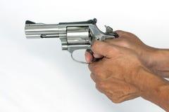 .38 millimetri. isolato della pistola su fondo bianco Fotografie Stock Libere da Diritti