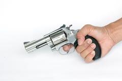 .38 millimetri. isolato della pistola su fondo bianco Fotografie Stock