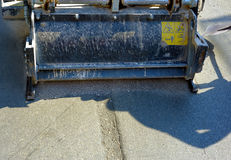 Milling of asphalt for road reconstruction accessory Stock Image