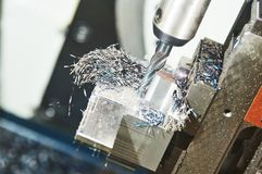 Free Milling Cnc Machine At Metal Work Industry. Multitool Precision Manufacturing And Machining Royalty Free Stock Photo - 150751855
