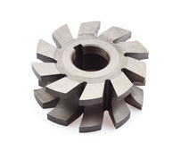 Milling cutter. Isolated on the white Royalty Free Stock Photo