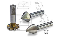 Milling Cutters Stock Image