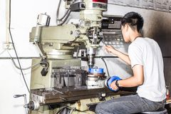 Milling and Drilling Machines stock images