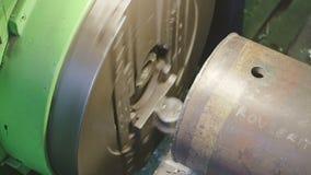 Milling machine detail stock video