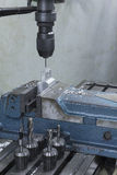 Milling machine drill on top Stock Photography