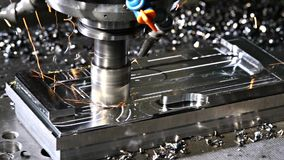 The milling machine stock footage