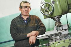 Milling machine operator Stock Photos