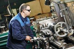 Milling machine operator Stock Image