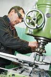 Milling machine operator Royalty Free Stock Images