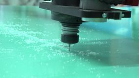 The milling machine in work. Milling. Work of a milling cutter stock video
