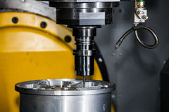 Milling machining center. CNC turning center metal processing machine Stock Photography