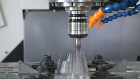Milling machining center in operation stock video
