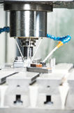 Milling the metal blank Stock Image