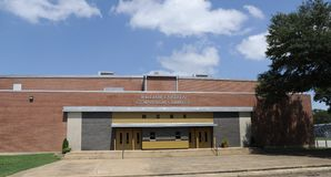 Millington Central High School Wide Angle of Gym stock photography