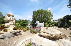 Million d'ans de parc en pierre, Pattaya Thaïlande 05-May-2013 Image stock